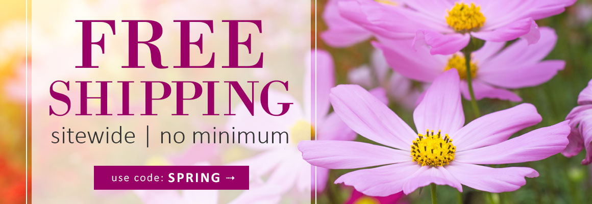 FREE SHIPPING NO MINIMUM use code: SPRING