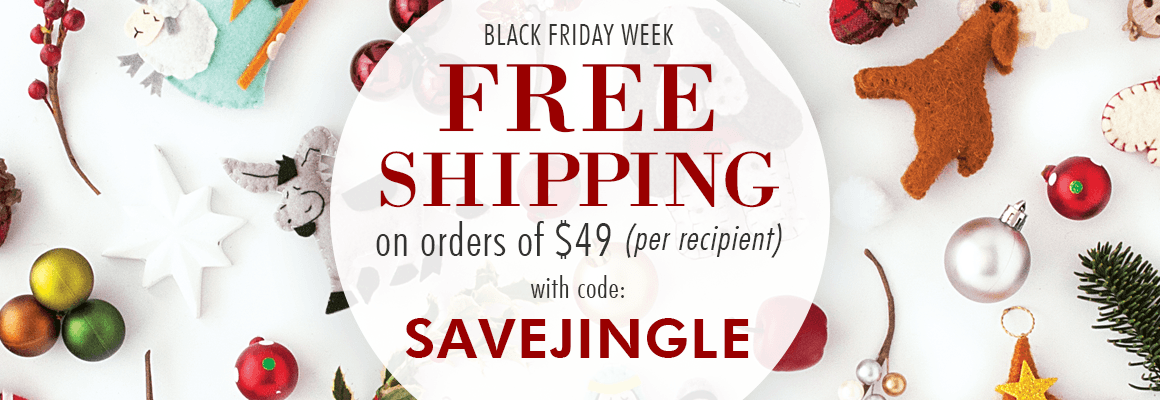 FREE SHIPPING on order of $49 or more with code: SAVEJINGLE