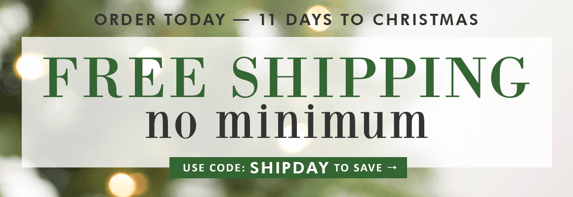 FREE SHIPPING no minimum with code: SHIPDAY