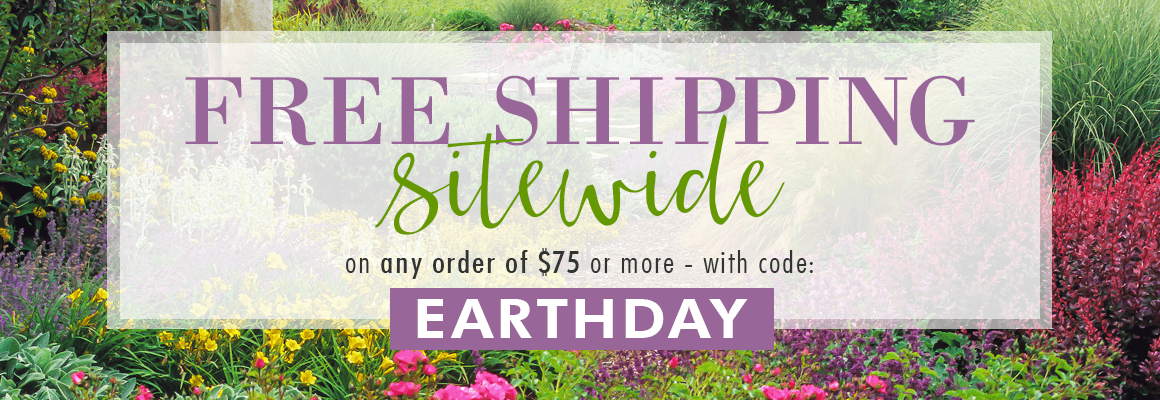 FREE SHIPPING on any $75 order with code: EARTHDAY - SHOP NOW