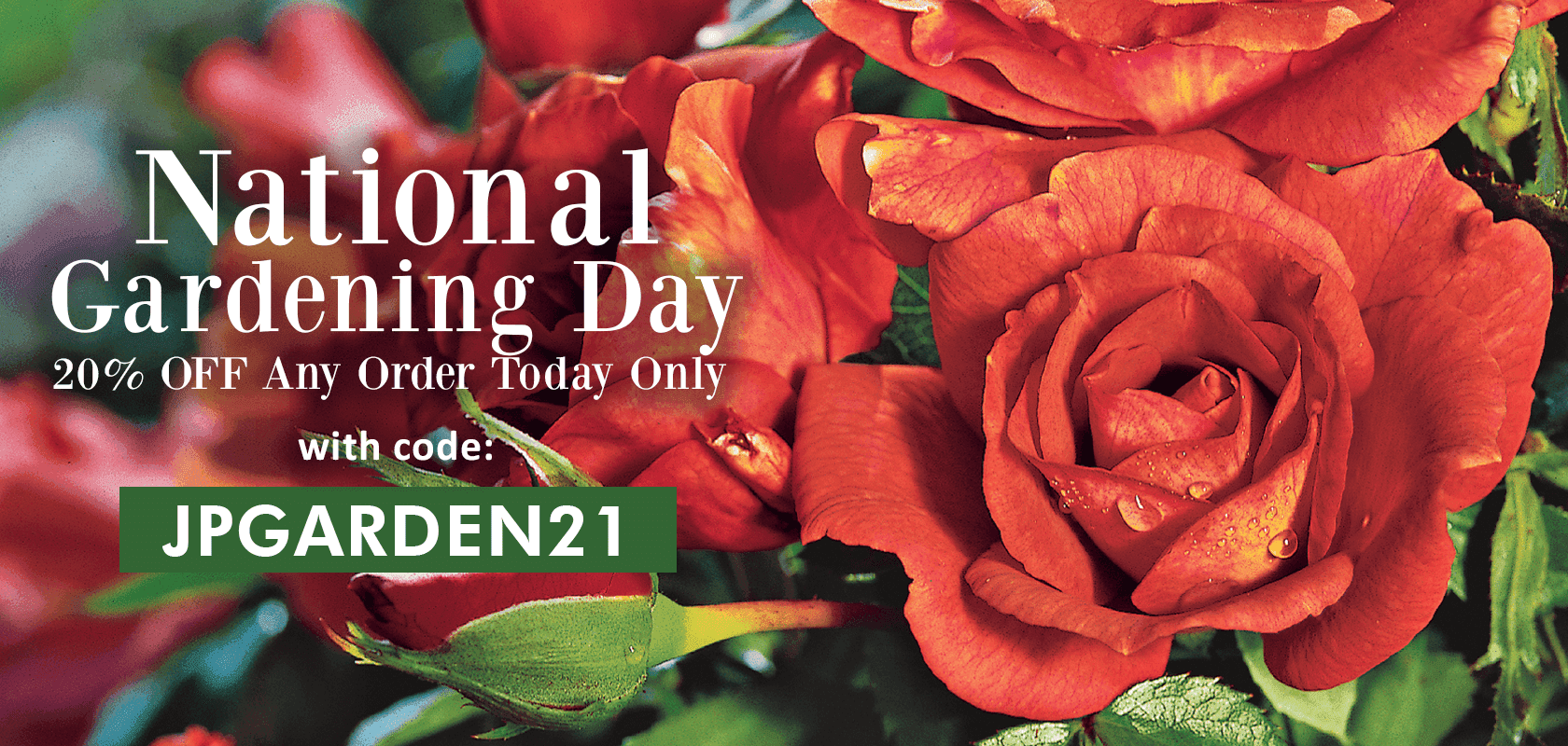 20% OFF Any Order Today Only with code: JPGARDEN21