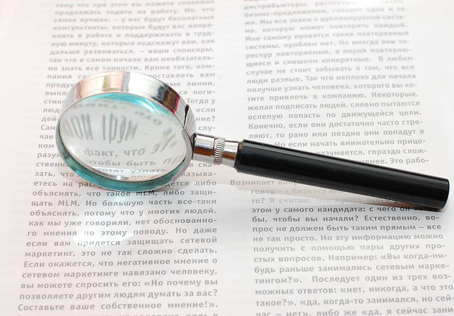 Bigstock Magnifiying Glass and Document