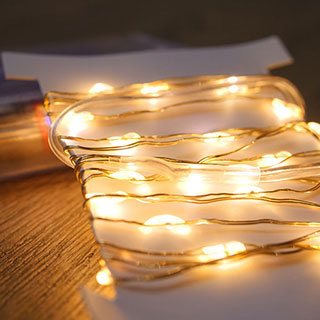 Gold LED String Lights - 40 LED Image