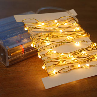 Gold LED String Lights - 60 LED Image
