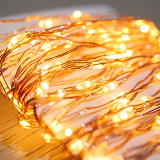 Copper LED String Lights - 100 LED Image
