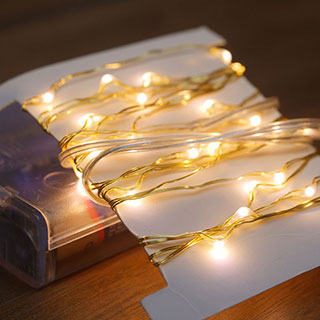 Gold LED String Lights - 80 LED Image