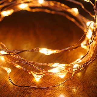 Copper LED String Lights - 40 LED Image