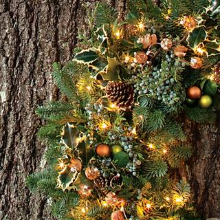 Winter Woods 24-Inch Wreath with Lights