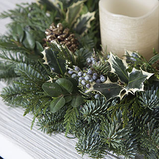 Winter Woods Candle Ring Centerpiece
