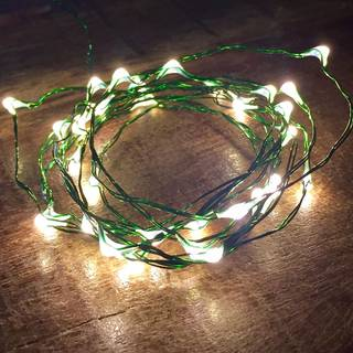 Bubble Lights - White with Green Wire - Pack of 10