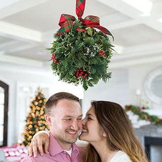 Under the Mistletoe Kissing Ball