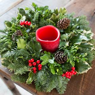 Holiday Cheer Candle Centerpiece