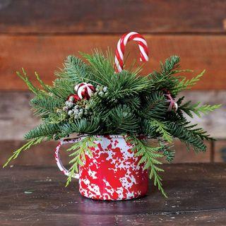 Cozy Christmas Mug Centerpiece