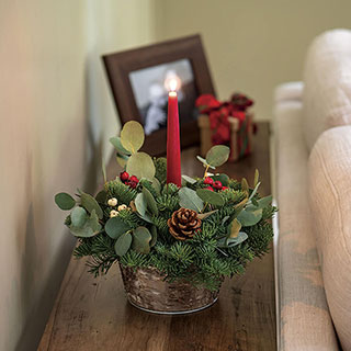 Berry Bright Centerpiece with Candle Image