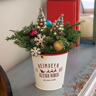 Vintage Reindeer Rides Centerpiece
