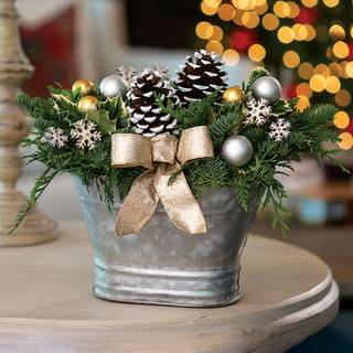 Silver & Gold Centerpiece