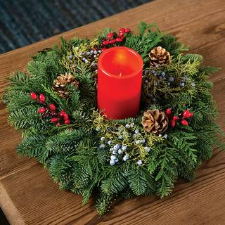 Classic Christmas Candle Ring Centerpiece