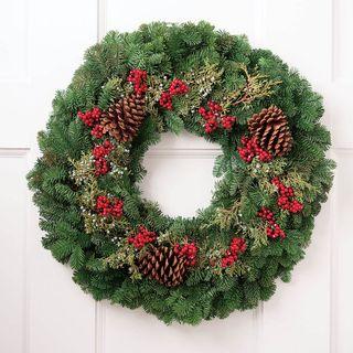 Holiday Greetings Wreath Image