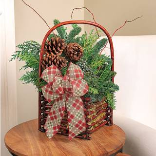 Woodland Evergreen Basket Centerpiece Image
