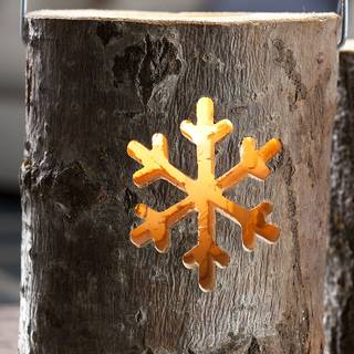 Woodland Log Lantern - Large Snowflake