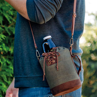 Growler Tote with Growler