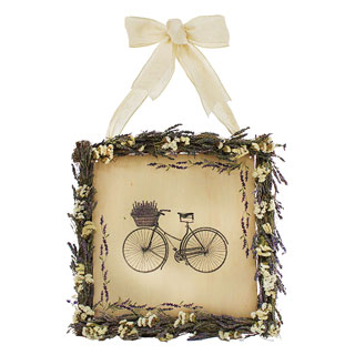 Lavender Bike Wreath