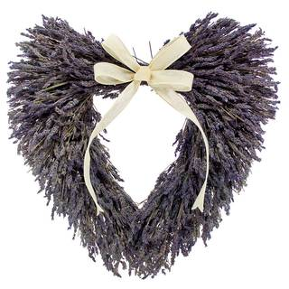 Lavender Fields Heart Wreath