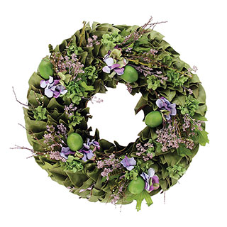 Lavender and Lime Wreath