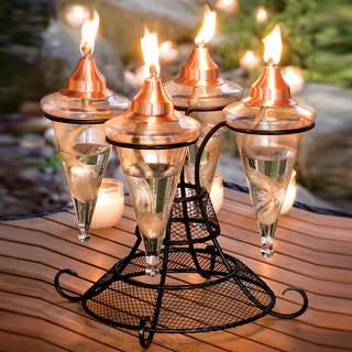 4 Lamp Tabletop Torch