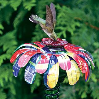 Sugar Shack™ Flower Stake Hummingbird Feeder