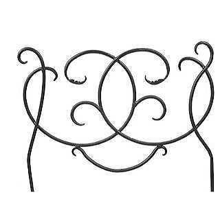 Scroll Fence Border, 24-inch Section