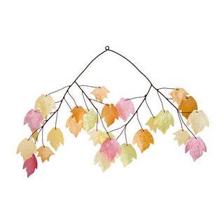 Autumn Leaves Capiz Wind Chimes