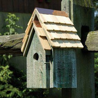 Grey Bluebird Cottage Bird House