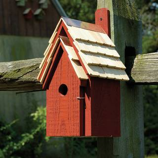 Redwood Bluebird Cottage Bird House