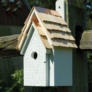White Bluebird Cottage Bird House