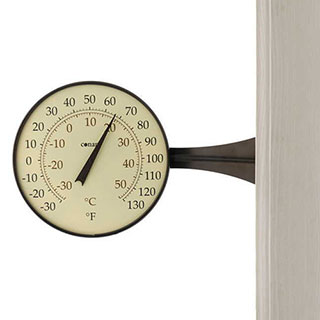 Conant Decor Large Dial Thermometer Bronze Patina