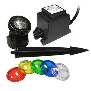 Power Beam 20 Watt w/Transformer, 23 Ft. Cord, and Color Lenses