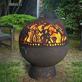 26-inch Fire Bowl w/ Full Moon Party FireDome