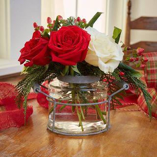 Jar Flower Holder