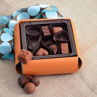 Milk and Dark Chocolate Truffles Gift Box