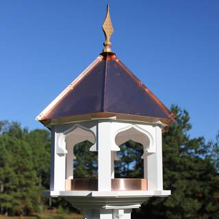 Carousel Cafe Bird Feeder with Bright Copper Roof