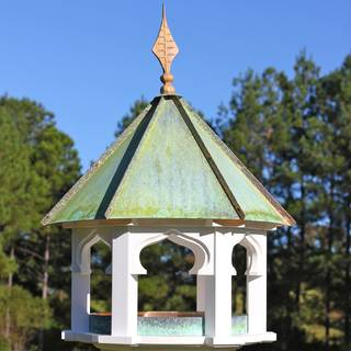 Carousel Cafe Bird Feeder with Verdigris Copper Roof