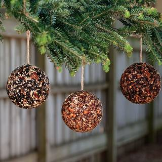 Hanging Birdseed Baubles - Set of 3