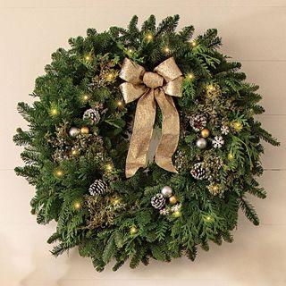 Snowfall Splendor Evergreen Wreath