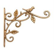 Restorers Brass Bird Plant Hanger-Pair-Polished Brass