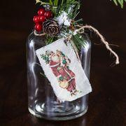Vintage Santa Bud Vases