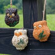 Hanging Owl Seed Decorations