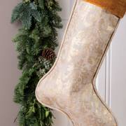 Golden Greetings Stocking