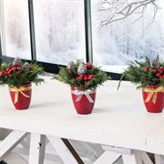 Holiday Cheer Centerpiece Trio