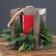 Rustic Holiday Evergreen Lantern